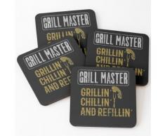 BBQ Grill Meister Grillin Chillin Refillin Untersetzer