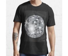 silberne Discokugel Essential T-Shirt