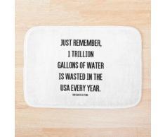 Wasserverschwendung Duschvorhang & Badematte Badematte