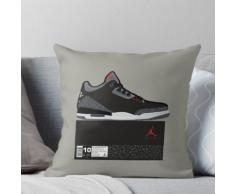 Jordan 3 Schwarzzement, Box Fresh Kissen
