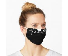 Grill Herzschlag - BBQ Geschenk für Grillmeister und Hobbygriller Maske