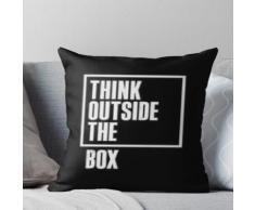 Beste Unternehmer Zitate - Think Outside The Box Kissen