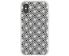 Ägyptisches Fliesen-Muster, Schwarzweiss Flexible Hülle für iPhone XS