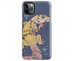 Leopard Gecko und Weihnachtsbeleuchtung iPhone 11 Pro Max Handyhülle