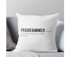 PROGRAMMER eine Maschine, die Kaffee in Code verwandelt - Lustige Programmwitze Kissen