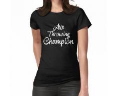 Axt Werfen Holzfäller Champion Bullseye Sport Damen Herren Shirt Frauen T-Shirt