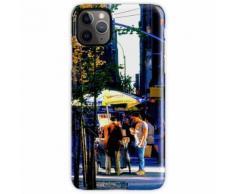 Hot Dog und Brezel stehen am späten Nachmittag in NYC iPhone 11 Pro Max Handyhülle