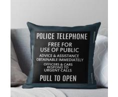 Polizei Box Tür Fach. Kissen