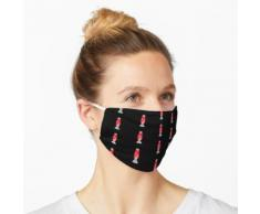 Rote Lavalampe Maske