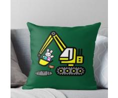 Lustiges Osterei-Häschen-Bagger-Kunst-Geschenk Kissen