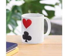 Spielkarten Anzüge - Spaten, Herzen Diamanten, Clubs Tasse