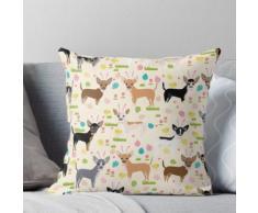Chihuahuahundezucht-Osterhasenfrühlings-Osterei-Hundemuster-Geschenk-Chihuahua Kissen