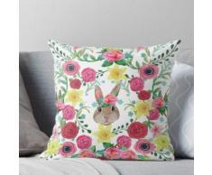 Ostern Kaninchen blumig Kissen
