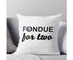 Fondue für zwei Personen Kissen