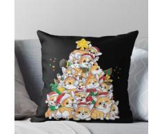 Corgi-Weihnachtshemd Fröhliches Corgmas Weihnachtsbaum-Santa-Jungen-T-Stück Kissen