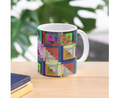 Blockhaus-Quilt-Block-Malerei Tasse