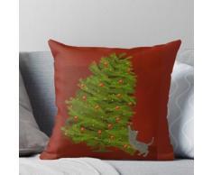 Weihnachtsbaum mit Katze Kissen