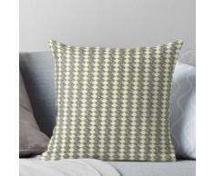 Kleine gelbe Lampen. Abstrakter Entwurf - einfaches Lampen-Muster in den hellgelben und Olive Kissen