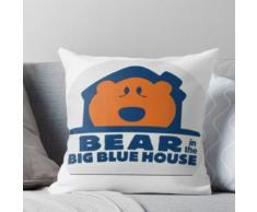 Bär im großen blauen Haus Kissen