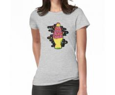 Beleuchtete Lavalampe in Pink in 3D Frauen T-Shirt