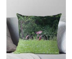 Weinlese-Pferde-gezogener Bauernhof-Mäher Kissen