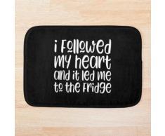 Ich folgte meinem Herzen und es führte mich zum Kühlschrank Badematte