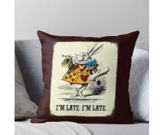 Alice im Wunderland: Vintage Rabbit im späten Druck Kissen