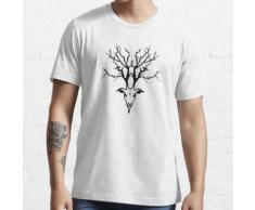 Hirschkopf schwarzes Logo Essential T-Shirt