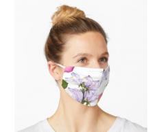 Zarte Frühlingsblüten und Rosenblätter gepresst Maske