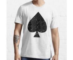 Spaten-Symbol-Spielkarten-Zeichen-Schwarzes Essential T-Shirt