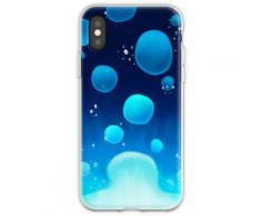 Lavalampe [Blau] Flexible Hülle für iPhone XS