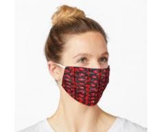 Chinesische rote Papierlaternen in Asien Maske
