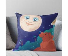 Der Mond, der Bär und das Große Blaue Haus Kissen
