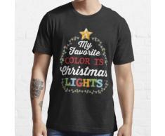 Meine Lieblingsfarbe ist Weihnachtsbeleuchtung Essential T-Shirt