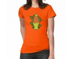 Beleuchtete Lava-Lampe in Orange in 3D Frauen T-Shirt