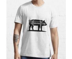 Ich würde dieses Schwein Schweinefleisch BBQ Grill lustig rauchen Essential T-Shirt