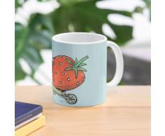 Gartenzwerg und Erdbeere Tasse