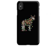 Lustiges Geschenk Weihnachtsbeleuchtung Okapi Liebhaber Lustiges Weihnachts iPhone XS Max Handyhülle