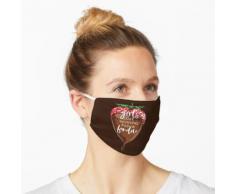 Mädchen möchten gerade Fondue-lustigen Schokoladen-Entwurf haben Maske