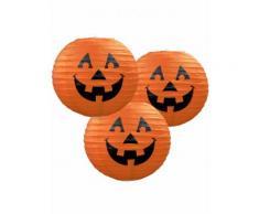 3 Halloween Kürbis-Papierlaternen