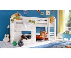 Hochbett für Kinder Jungen Weiß