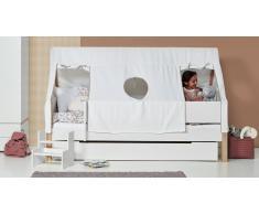Spielbett für Kinder Tipi Weiß