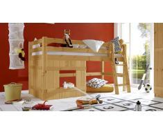 Hochbett für Kinder Basic Kiefer