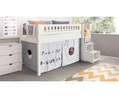 Hochbett für Kinder Design Weiß