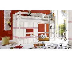 Hochbett für Kinder Basic Weiß