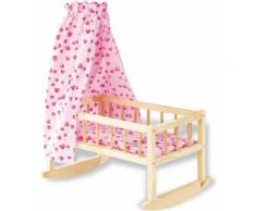 ab 3 Jahren inkl small foot 2852 Puppenwiege // Puppenbett Traumfabrik aus Holz Decke Kissen und Matratze
