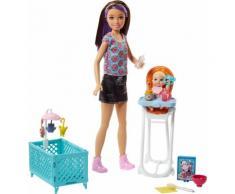 Skipper Babysitters Inc. - Puppen und Hochstuhl Spielset (24.10cm)
