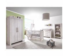 Komplett Kinderzimmer Nordic Cascina, 3-tlg. (Kinderbett, Umbauseiten, Wickelkommode und Kleiderschrank 2-trg.), Cascina Pinie weiß