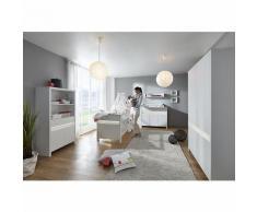Komplett Kinderzimmer Planet White, 3-tlg. (Kinderbett, Wickelkommode und 5- türiger Kleiderschrank), weiß