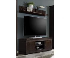 TV-Lowboard kolonial mit Wandregal Kiefer 144 cm Cordoba